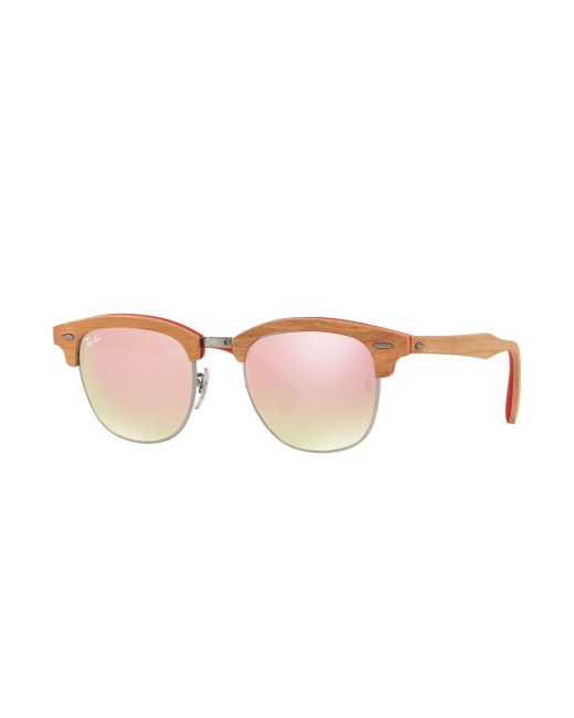 Ray-Ban | Brown Clubmaster Wood | Lyst