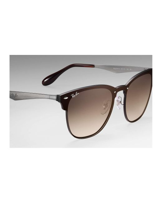 a208e8a249627 ... Ray-Ban - Brown Blaze Clubmaster Sunglasses for Men - Lyst ...