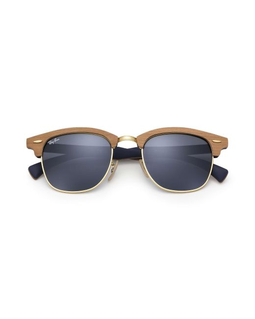 25803a87d89 ... Ray-Ban - Blue Clubmaster Wood for Men - Lyst ...