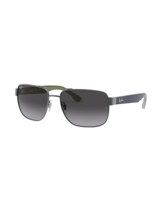 Ray-Ban Metallic Sunglasses, Rb3530 58