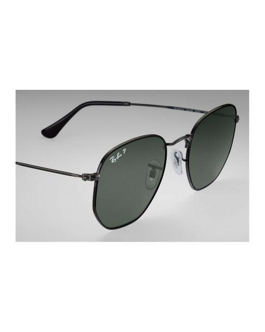 719cc0d36f ... Ray-Ban - Green Hexagonal Flat Lenses for Men - Lyst ...