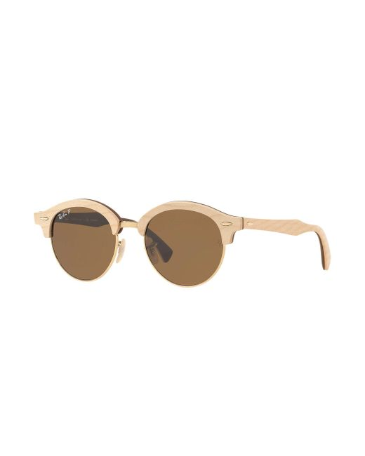 Ray-Ban - Brown Clubround Wood for Men - Lyst