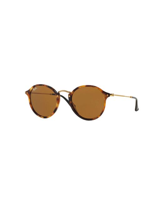 78aa1f7205 Ray-Ban - Brown Round Fleck - Lyst ...