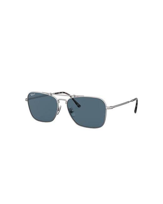 Ray-Ban Blue Caravan Titanium Sunglasses Lenses