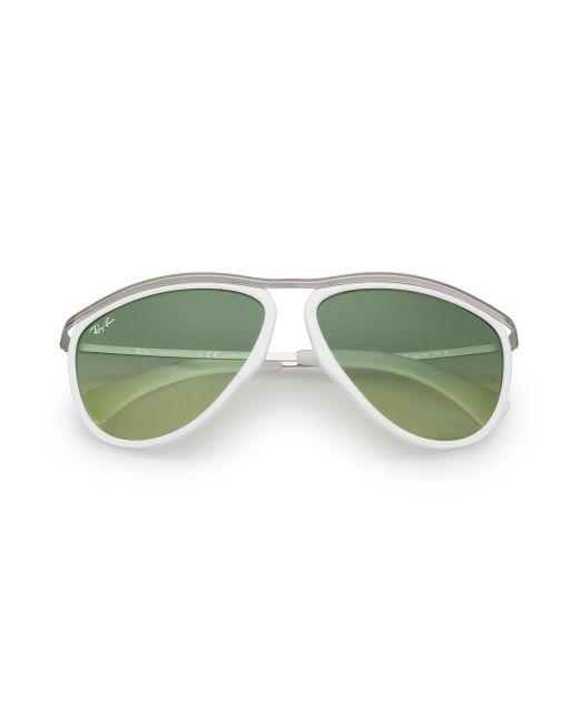 Ray-Ban Green Olympian Aviator Hd60 Silber