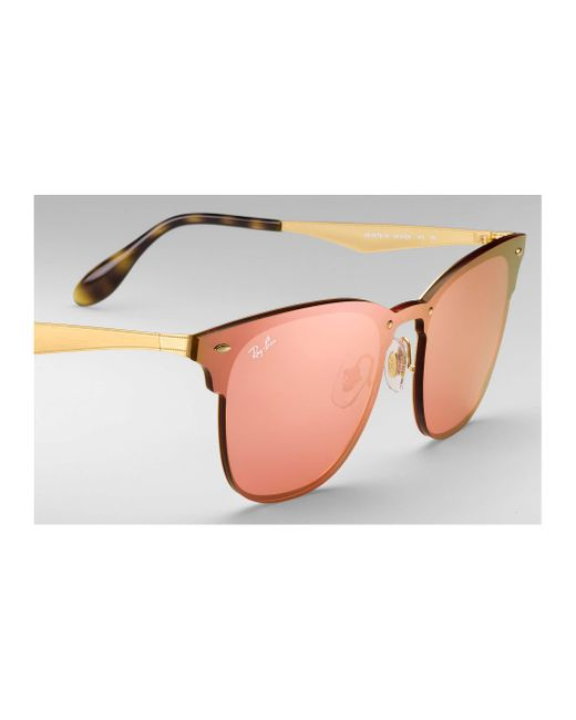 e04543aa552 ... Ray-Ban - Pink Blaze Clubmaster for Men - Lyst ...