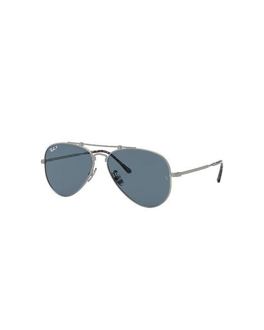 Ray-Ban Blue Aviator Titanium Sunglasses Lenses