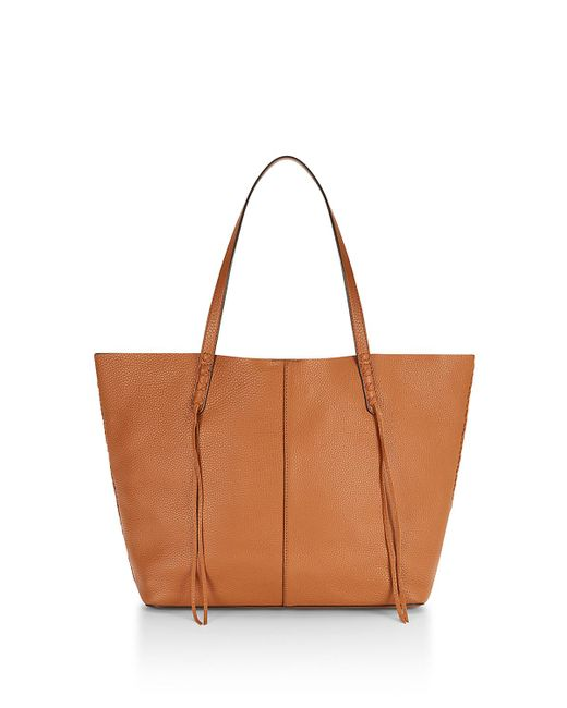 Rebecca Minkoff | Brown Medium Unlined Tote With Whipstitch | Lyst