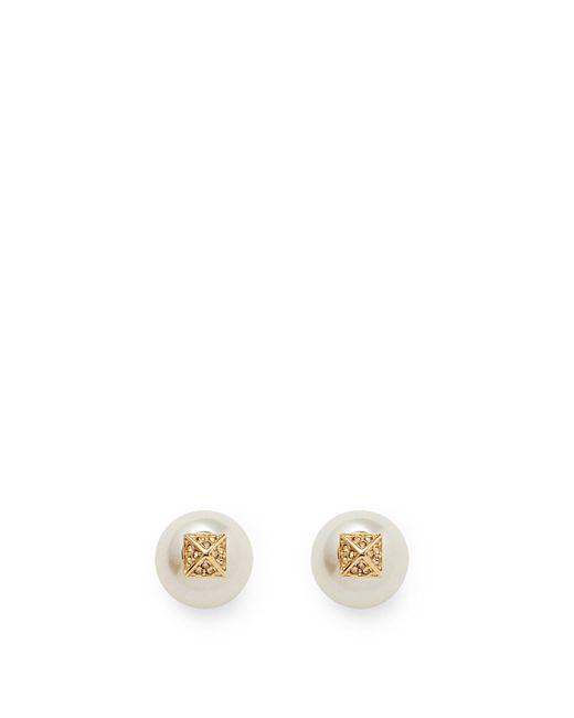 Rebecca Minkoff | Metallic Two Part Pearl Earring | Lyst