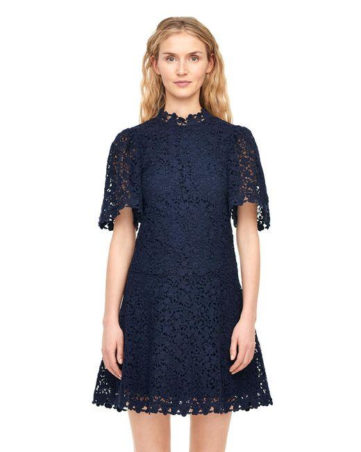 aa48b304ed36 ... Rebecca Taylor - Blue Floral Lace Dress - Lyst ...