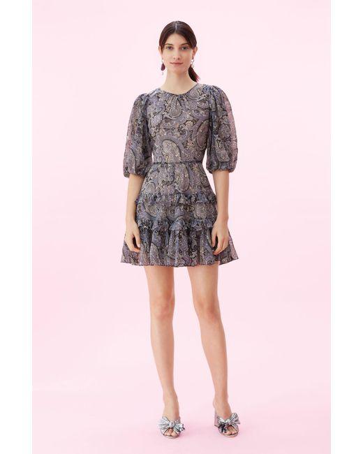 55b93211913 Rebecca Taylor - Multicolor Selene Paisley-print Mini Dress - Lyst ...