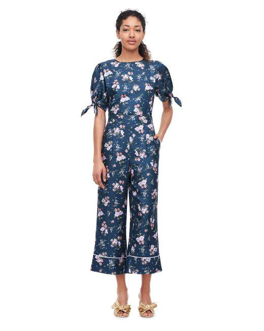 Rebecca Taylor - Blue Emilia Print Silk Twill Pant - Lyst