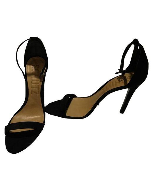 Schutz Black Sandalen aus Leder