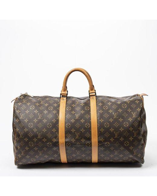 Louis Vuitton Brown Keepall aus Canvas