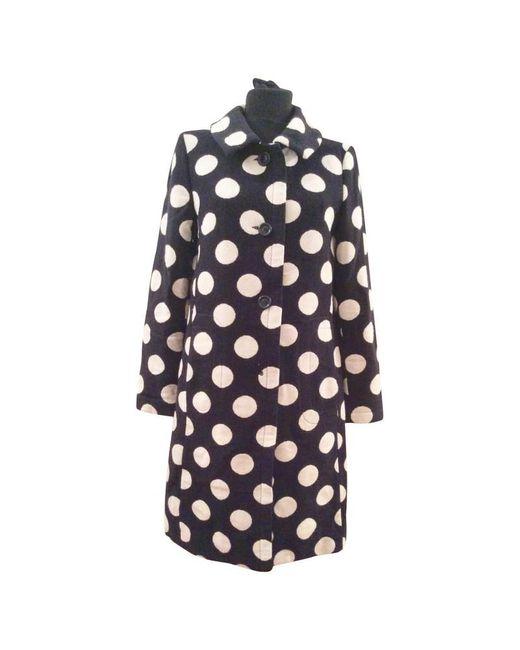 Moschino Blue Jacke/Mantel aus Wolle