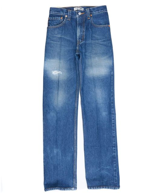 Re/done - Blue High Rise Loose - Lyst