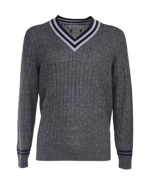 Brunello Cucinelli - Gray Grey Sweater for Men - Lyst