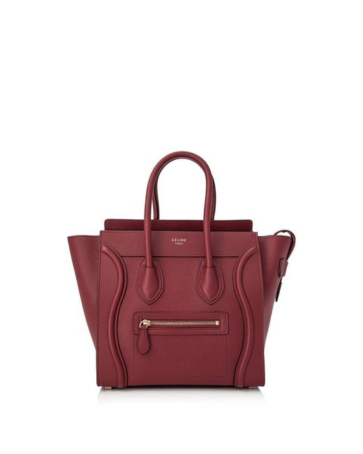 7ce0d7ae7621 Céline - Red Micro Luggage - Lyst ...
