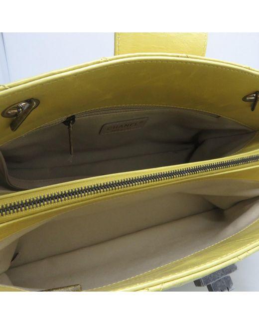 ff28b80d4648fe ... Chanel - Matelasse Cc 2.55 Shoulder Bag Calfskin Leather Yellow 1864 -  Lyst ...