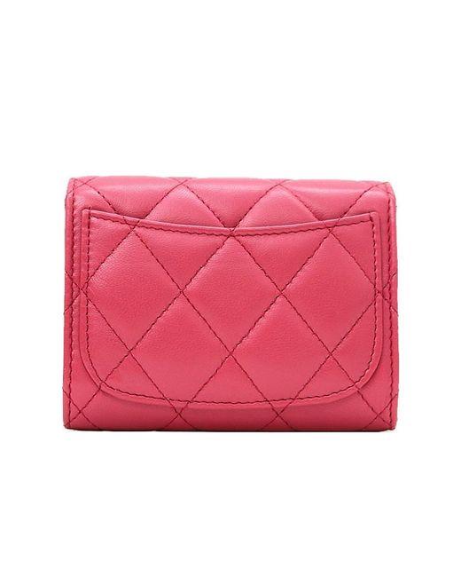 8c40ea4b958055 ... Chanel - Pink Mini Matelasse Wallet Shoulder Bag - Lyst ...