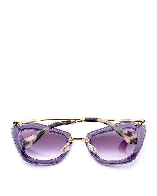 62c71cfcff5a Lyst - Miu Miu Women s Sunglasses Light Purple ( mm10ns4w1) in Purple