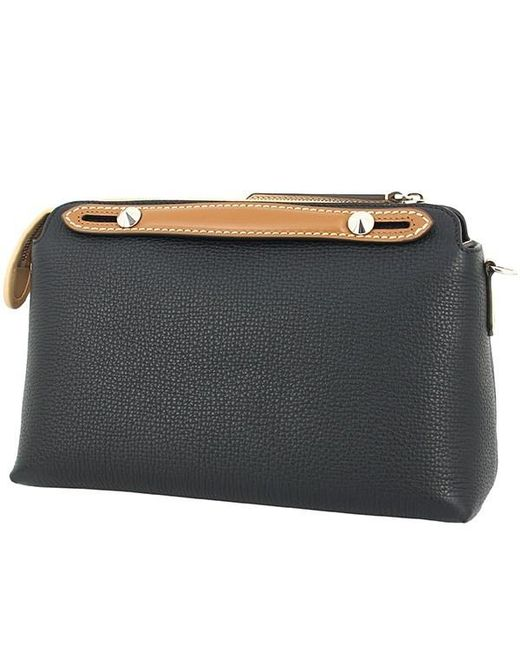 ... Fendi - Natural By The Way Small Calf-leather Black Multicolored Handbag  Shoulder Bag ... 9378b878017aa