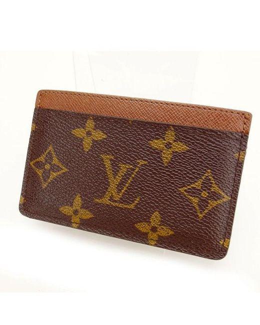 Lyst louis vuitton business card holder monogram unisexused y732 louis vuitton brown business card holder monogram unisexused y732 lyst colourmoves