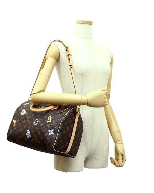 c7dcefa3e51f ... Louis Vuitton - Brown Speedy Bandouliere 30 Monogram Love Lock Handbag  Shoulder Bag  new