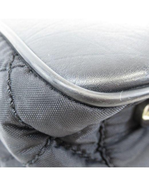 72c7b7acfdb ... Chanel   Black Nylon Leather Tote Bag Coco Mark   Lyst ...