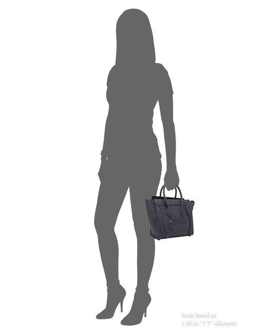 cb2e530dd171 ... Céline - Gray Céline Micro Luggage - Lyst