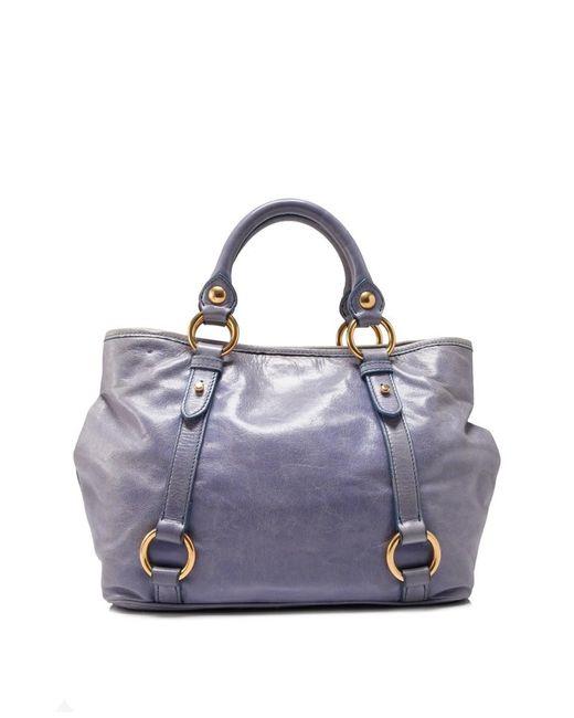 Pre-owned - Blue Leather Handbag Miu Miu QfAH1dJK