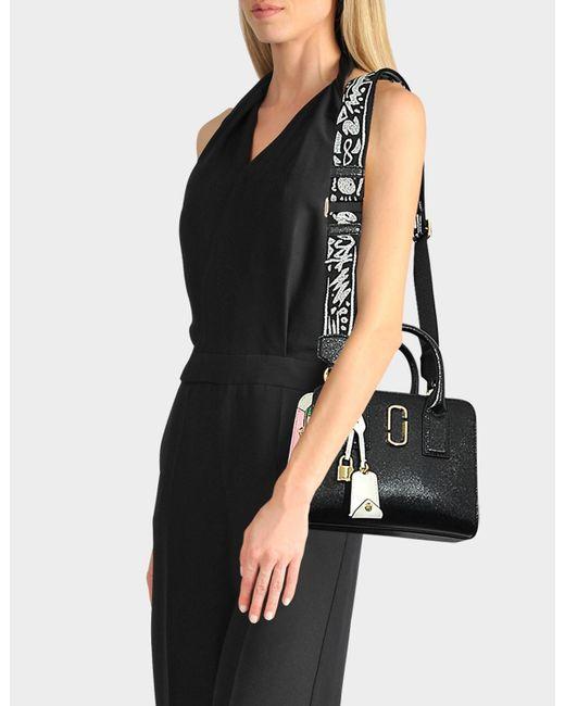 b53addb8c206 ... Marc Jacobs - Little Big Shot Bag In Black And Pale Pink Polyurethane  Coated Calfskin -