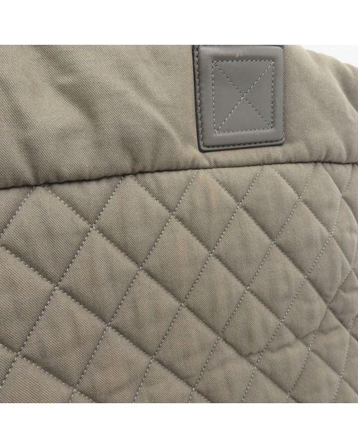 e83157b8825690 ... Chanel - Matelasse Cc Coco Cocoon Tote Bag Shopper Grey Green Fabric  5800 - Lyst