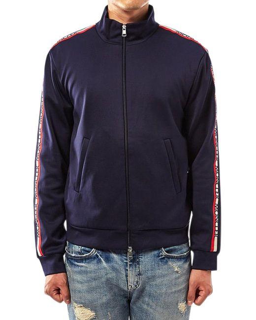 Moncler Black Men's Side Stripe Jacket for men