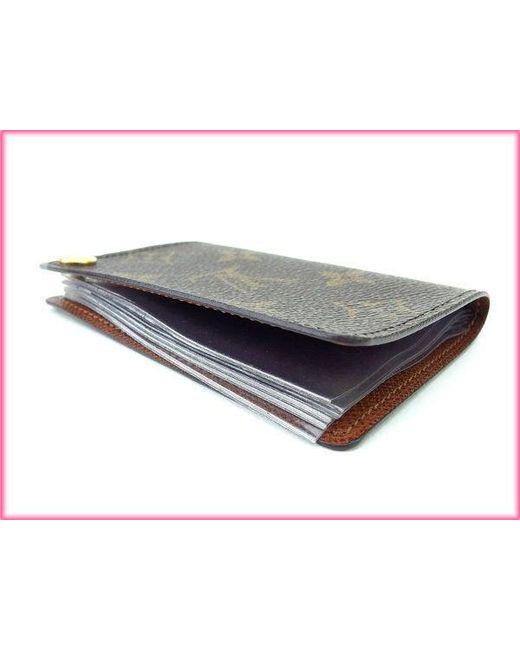 Lyst louis vuitton business card holder monogram unisexused l294 louis vuitton brown business card holder monogram unisexused l294 lyst colourmoves