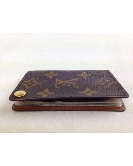 Lyst Louis Vuitton Porte Cartes Credit Pression Monogram Card Case - Porte carte credit