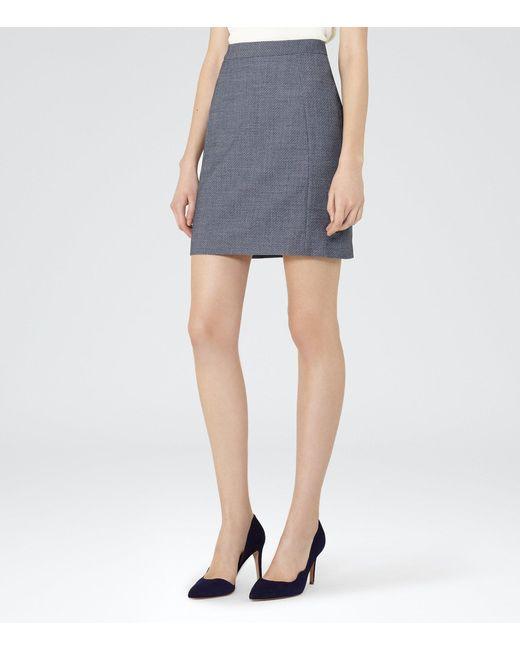 Reiss | Blue Russell Skirt | Lyst