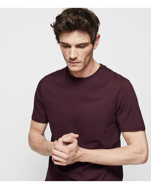 Reiss - Purple Bless - Crew Neck T-shirt for Men - Lyst