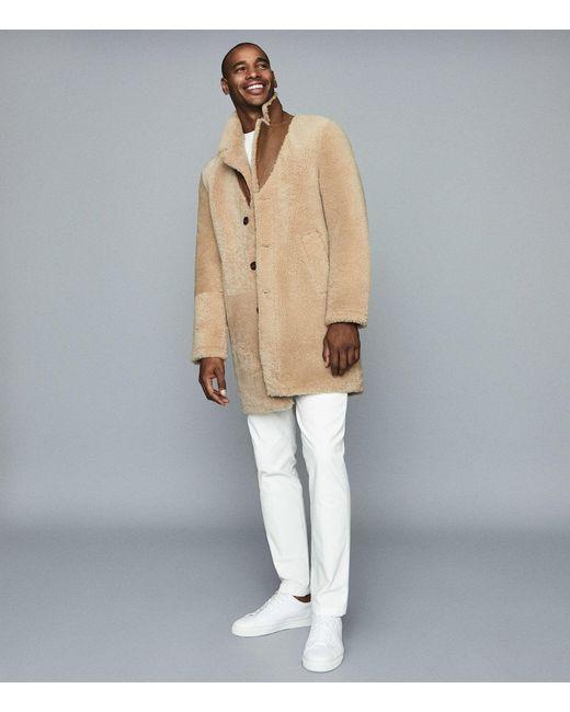 Reiss Natural Kid - Teddy Shearling Coat for men