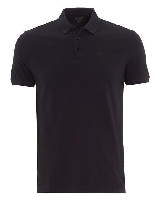 Armani Jeans | Polo Shirt Plain Navy Blue Short Sleeve Polo for Men | Lyst