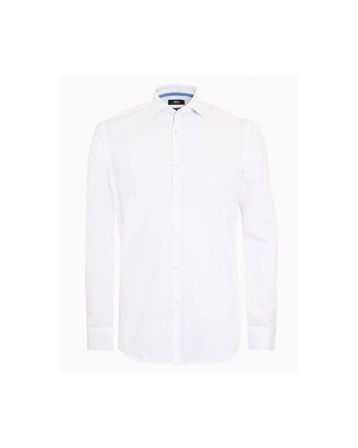 BOSS Black | Jery Shirt, Slim Fit Business Plain White Shirt for Men | Lyst