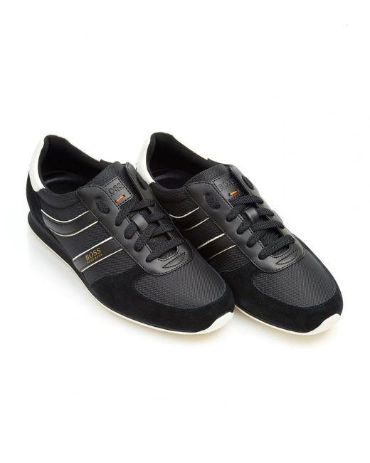 BOSS Orange | Orland_runn_ny Trainers, Side Stripe Black Sneakers for Men | Lyst
