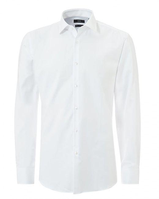 BOSS Black | Jenno Small Texture Slim Fit White Shirt for Men | Lyst