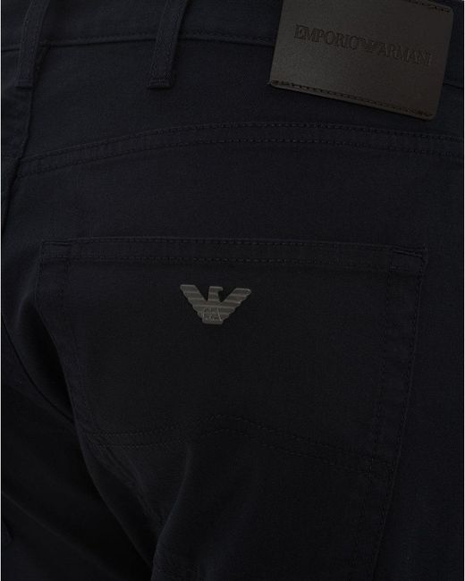 ebbf8da0a3 Emporio Armani J45 Stretch Cotton Jeans, Navy Slim Fit Denim in Blue ...