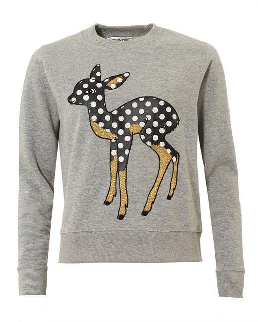 Essentiel Antwerp | Gray Offie2 Sweatshirt, Dotted Dear Vapor Grey Jumper for Men | Lyst