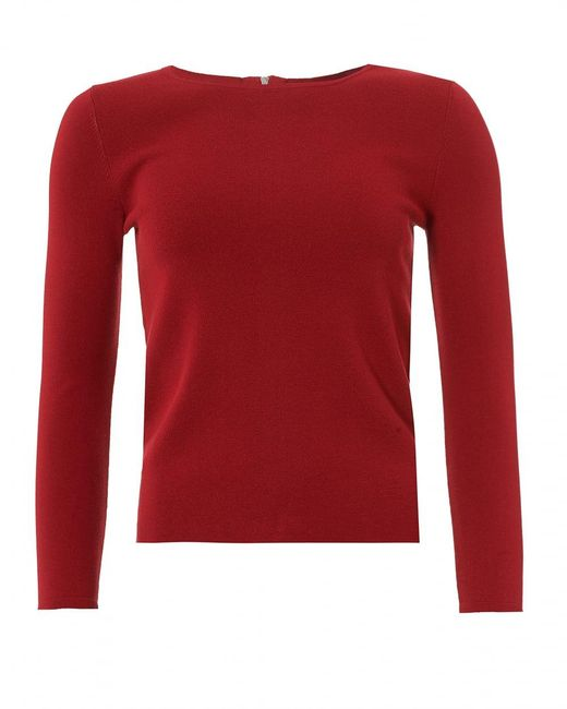 Weekend by Maxmara | Savona Jumper, Zipped Back Red Sweater | Lyst