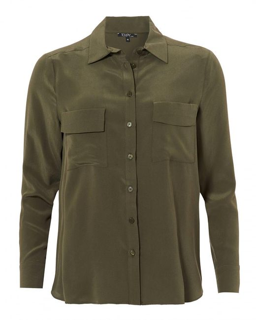 Toupy - Gala Blouse, Twin Pocket Army Green Shirt for Men - Lyst