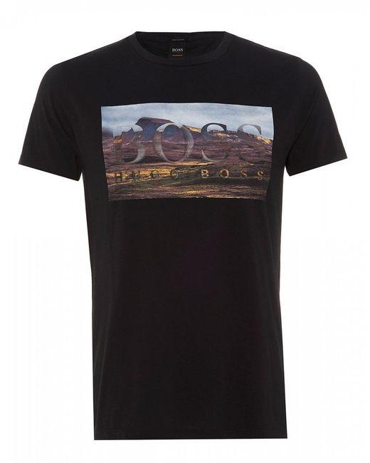 BOSS Tee Dog 1 T-shirt, Black Regular Fit Tee for men