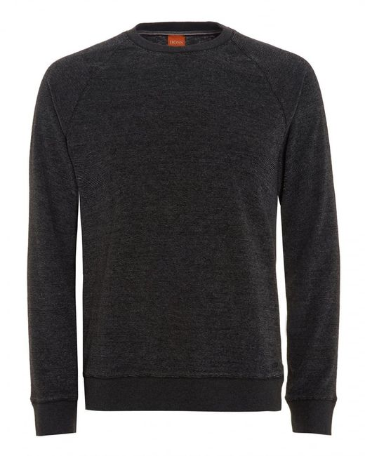 BOSS Orange | Willie Jumper, Marl Black Sweatshirt for Men | Lyst