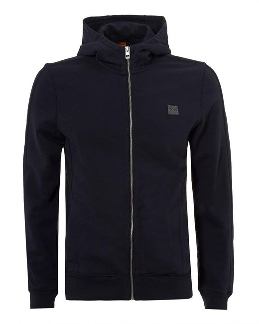 BOSS Orange | Ztadium Hoodie, Panel Sides Navy Blue Sweatshirt for Men | Lyst